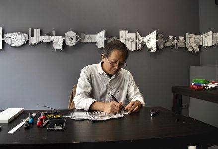 Li Bangyao working at ODRADEK, 2017