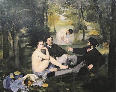 Fig 9 : Lunch on the Grass, MANET Edouart, 1863, oil on canvas, 207 x 265 cm