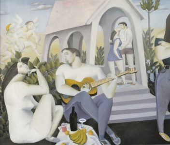 Fig 10 : Concerto without Lang Ya Grass, 1986, oil on canvas, 130 x 100 cm, in LI Bangyao, HEBEI FINE ARTS PUSBLISHING HOUSE, 2008