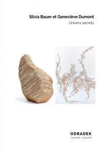 Plaquette de l'exposition ODRADEK de Silvia Bauer et Genevieve Dumont
